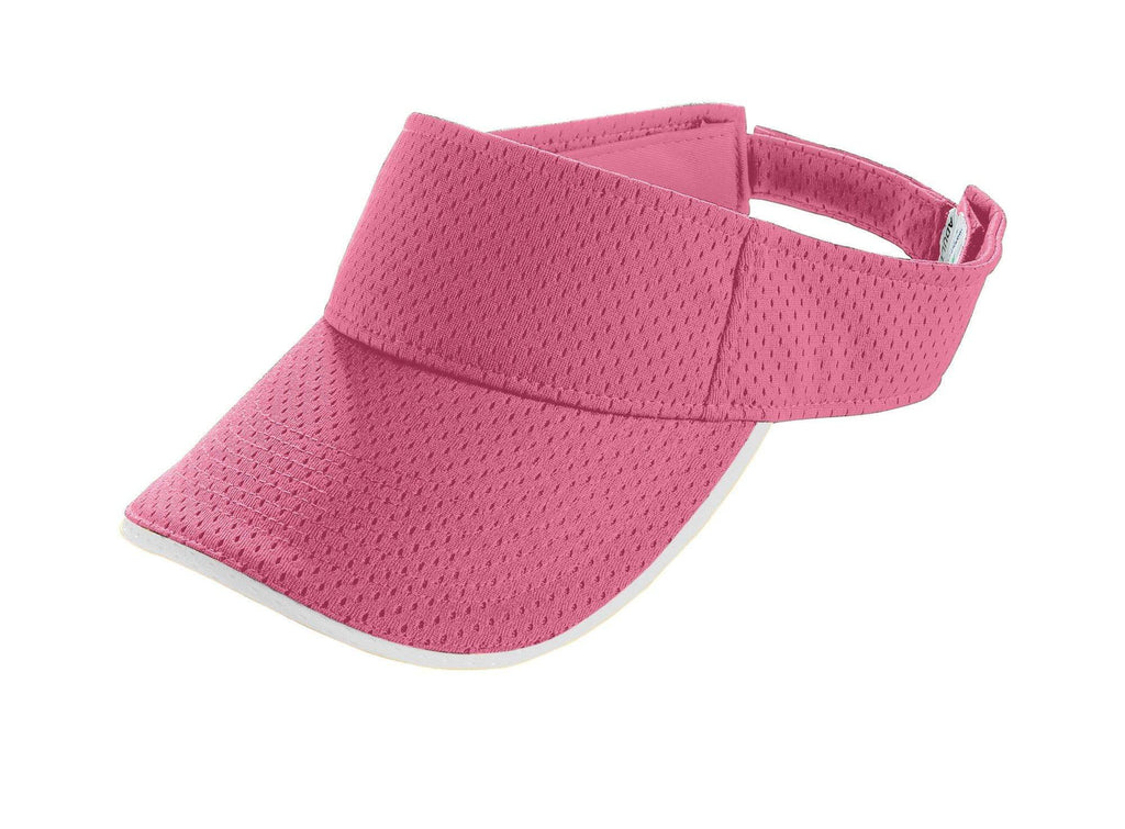 Augusta 6224 Athletic Mesh Two-Color Visor - Youth - Pink White - HIT A Double