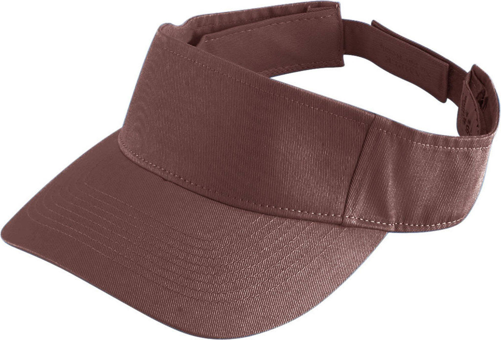Augusta 6225 Sport Twill Visor - Brown - HIT A Double