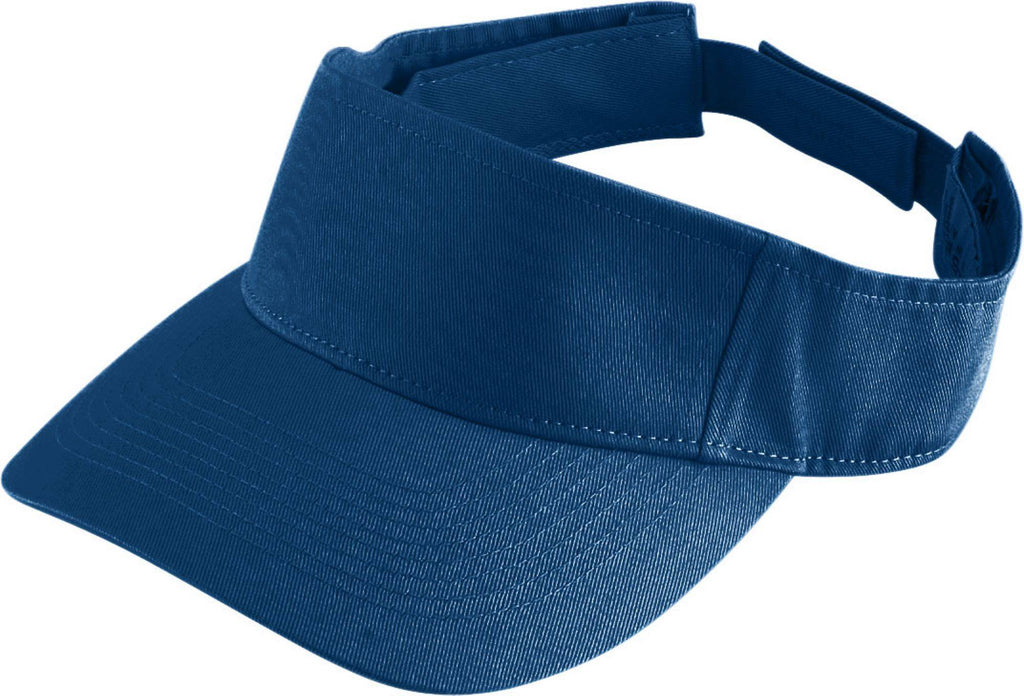 Augusta 6225 Sport Twill Visor - Navy - HIT A Double