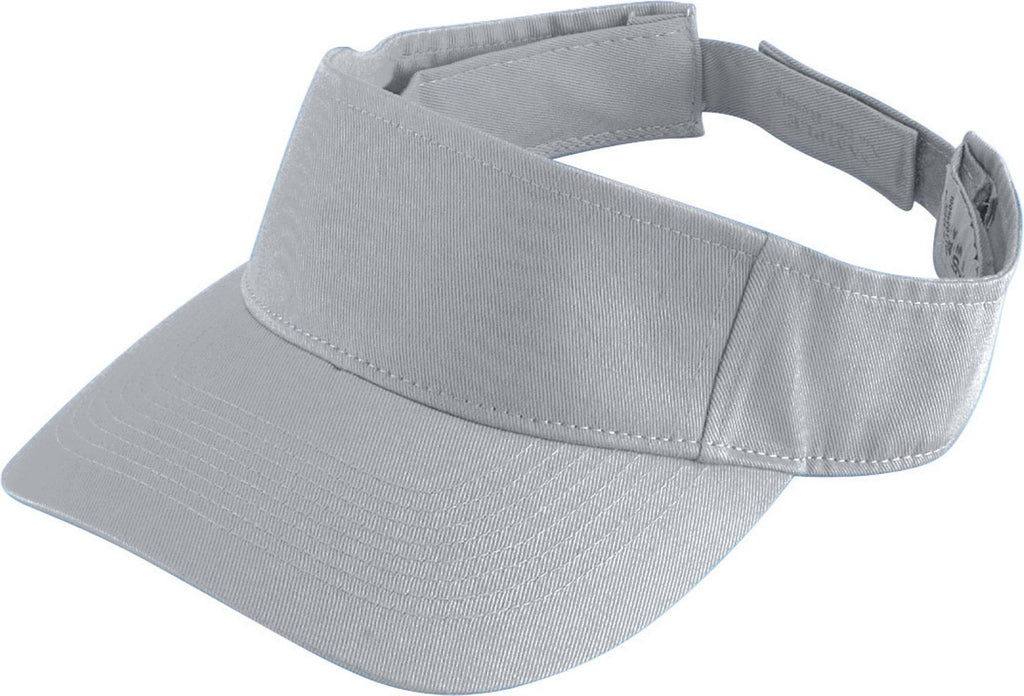 Augusta 6226 Sport Twill Visor - Youth - Silver Gray - HIT A Double