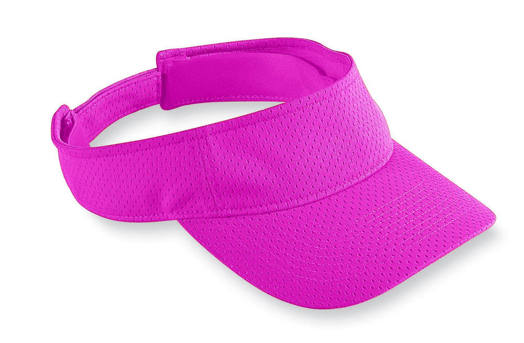 Augusta 6228 Athletic Mesh Visor - Youth - Power Pink - HIT A Double