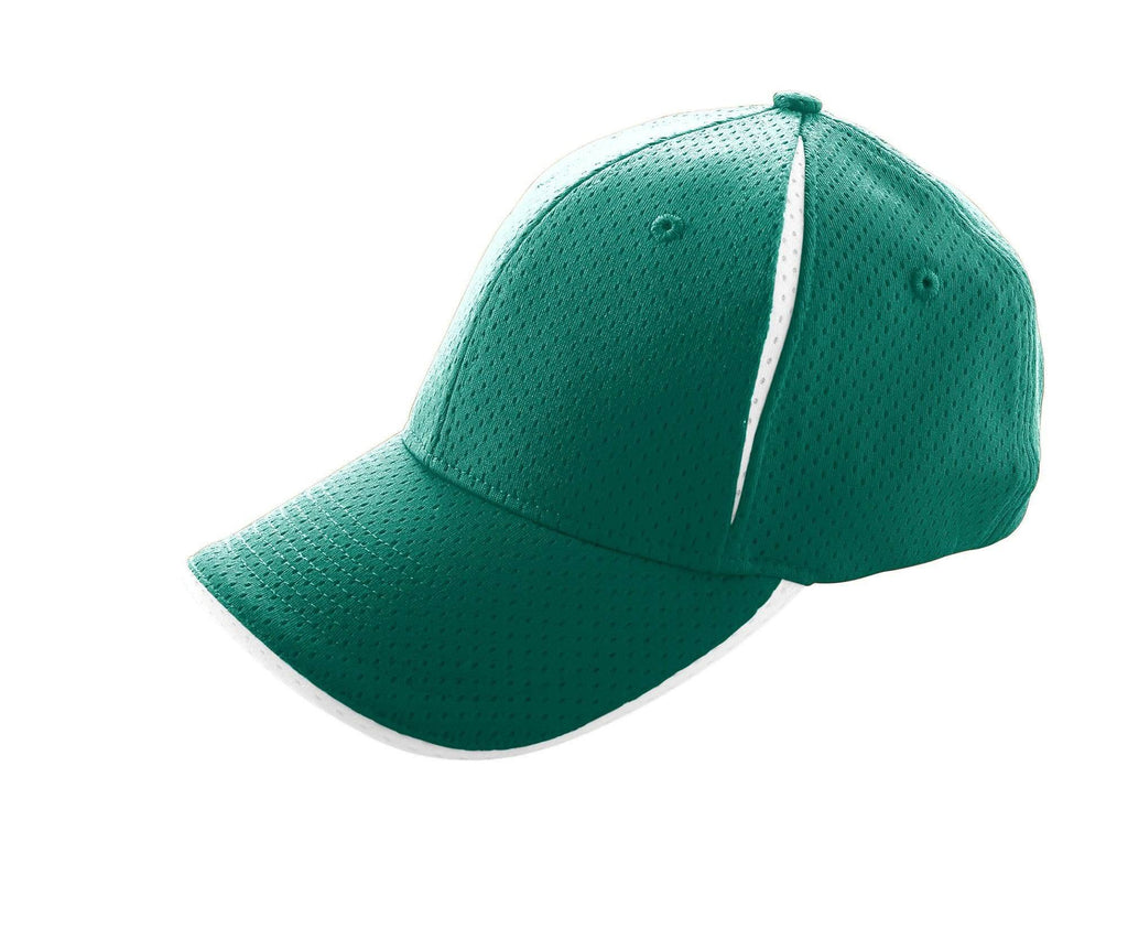 Augusta 6234 Sport Flex Color Block Athletic Mesh Cap - Dk Green White - HIT A Double