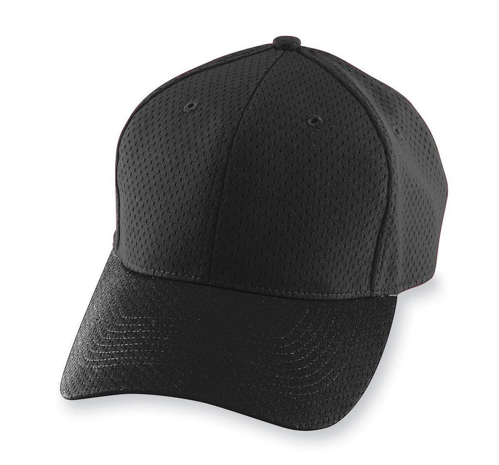 Augusta 6235 Athletic Mesh Cap - Black - HIT A Double