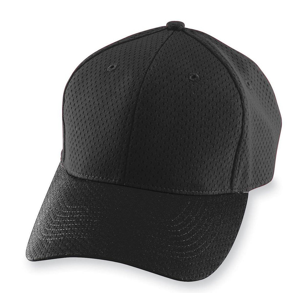Augusta 6236 Athletic Mesh Cap - Youth - Black - HIT A Double