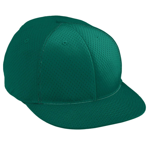 Augusta 6256 Athletic Mesh Flat Bill Cap - Youth - Dark Green - HIT A Double
