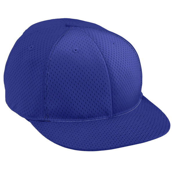 Augusta 6256 Athletic Mesh Flat Bill Cap - Youth - Purple - HIT A Double