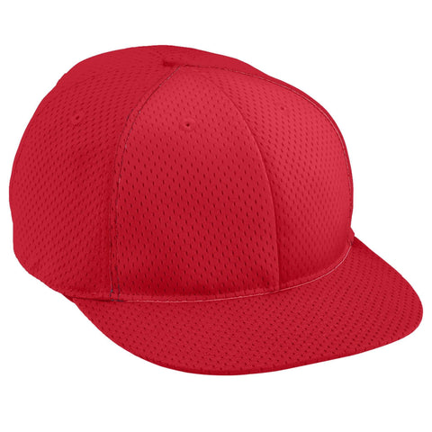 Augusta 6256 Athletic Mesh Flat Bill Cap - Youth - Red - HIT A Double