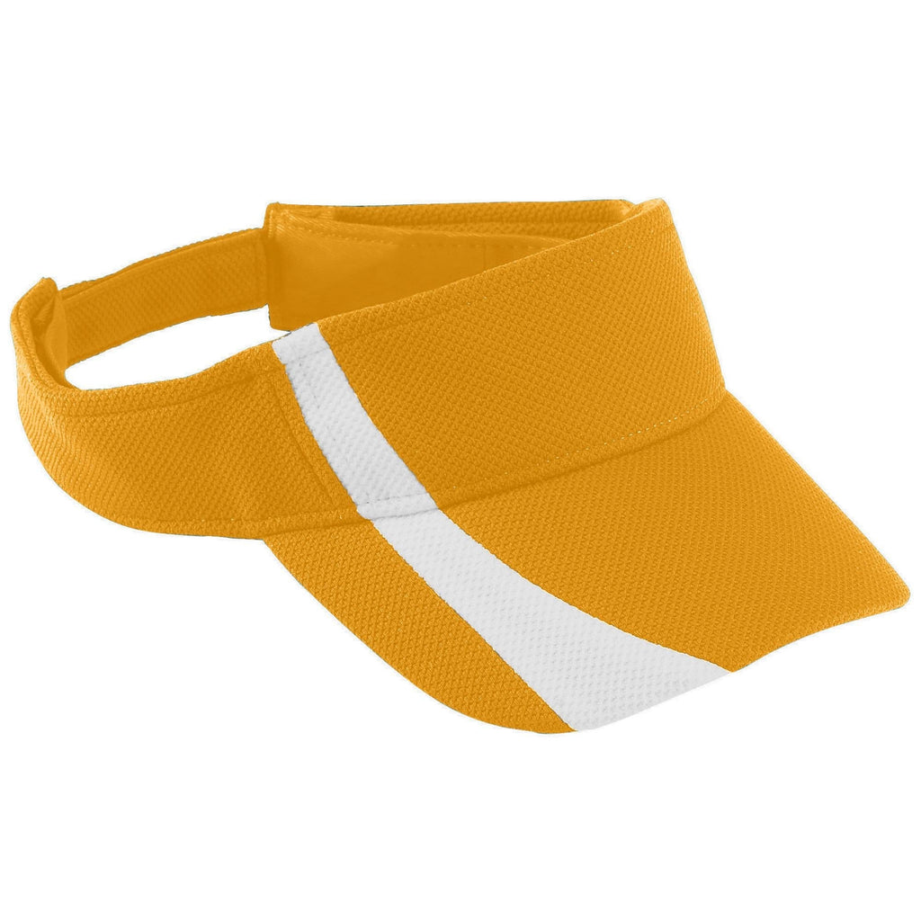 Augusta 6260 Adjustable Wicking Mesh Two-Color Visor - Gold White - HIT A Double