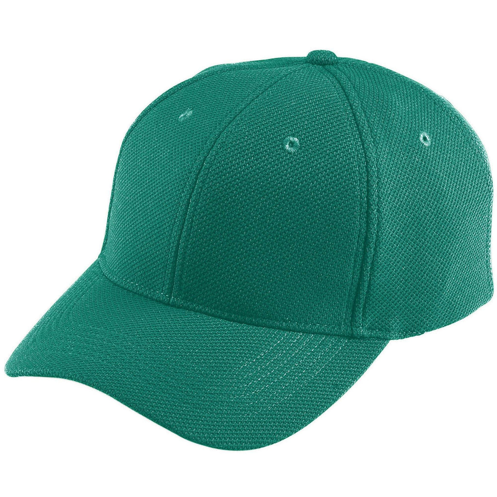 Augusta 6265 Adjustable Wicking Mesh Cap - Dark Green - HIT A Double
