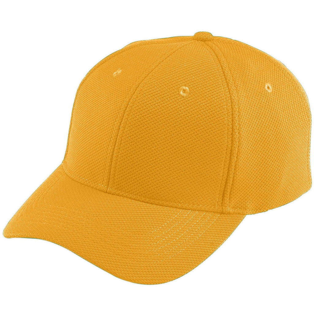 Augusta 6265 Adjustable Wicking Mesh Cap - Gold - HIT A Double