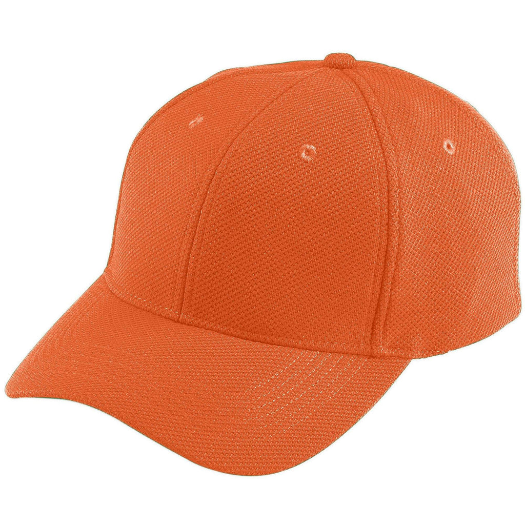 Augusta 6265 Adjustable Wicking Mesh Cap - Orange - HIT A Double