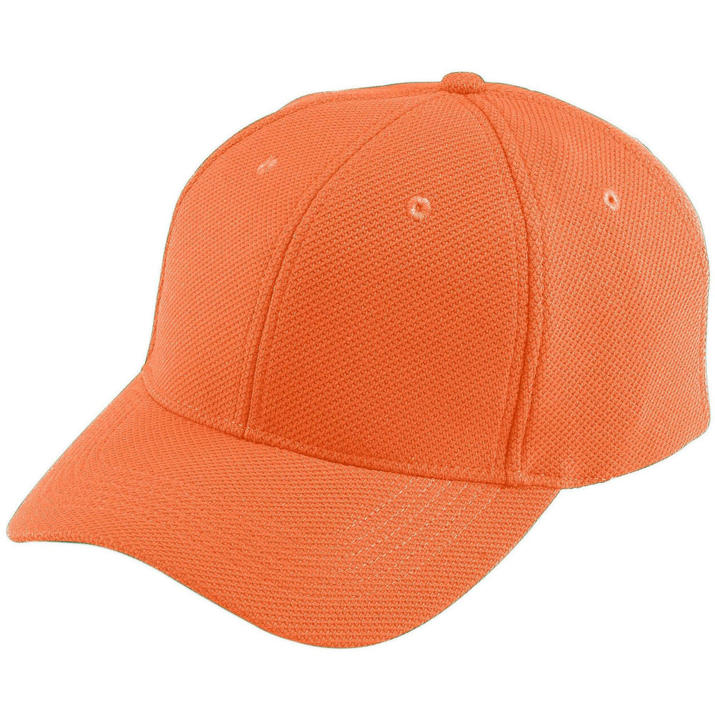 Augusta 6266 Adjustable Wicking Mesh Cap - Youth - Orange - HIT A Double