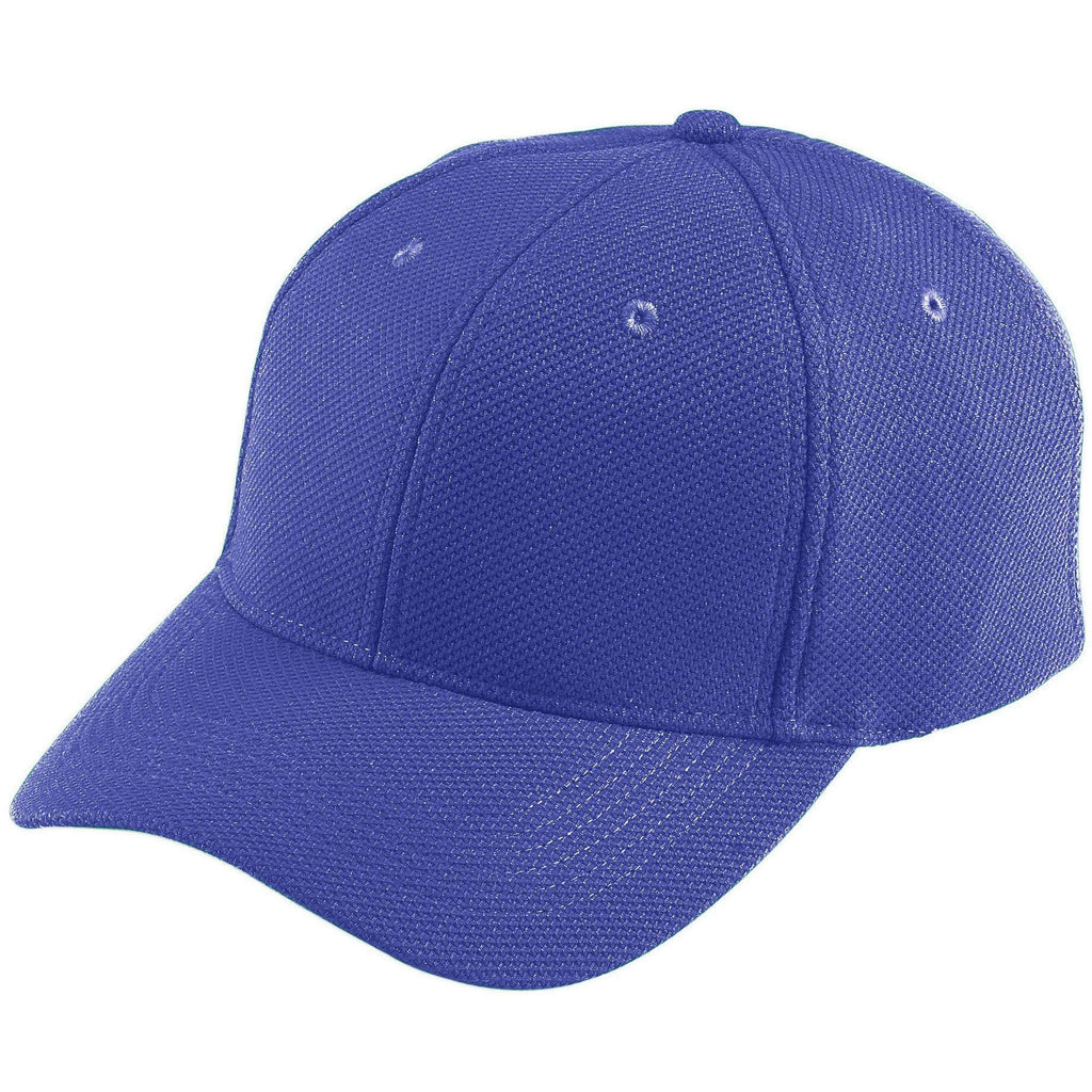 Augusta 6266 Adjustable Wicking Mesh Cap - Youth - Purple - HIT A Double