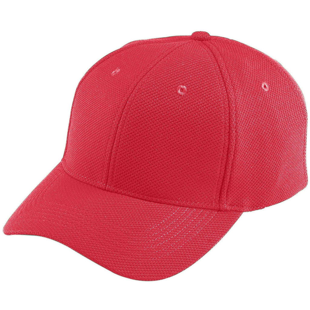 Augusta 6266 Adjustable Wicking Mesh Cap - Youth - Red - HIT A Double