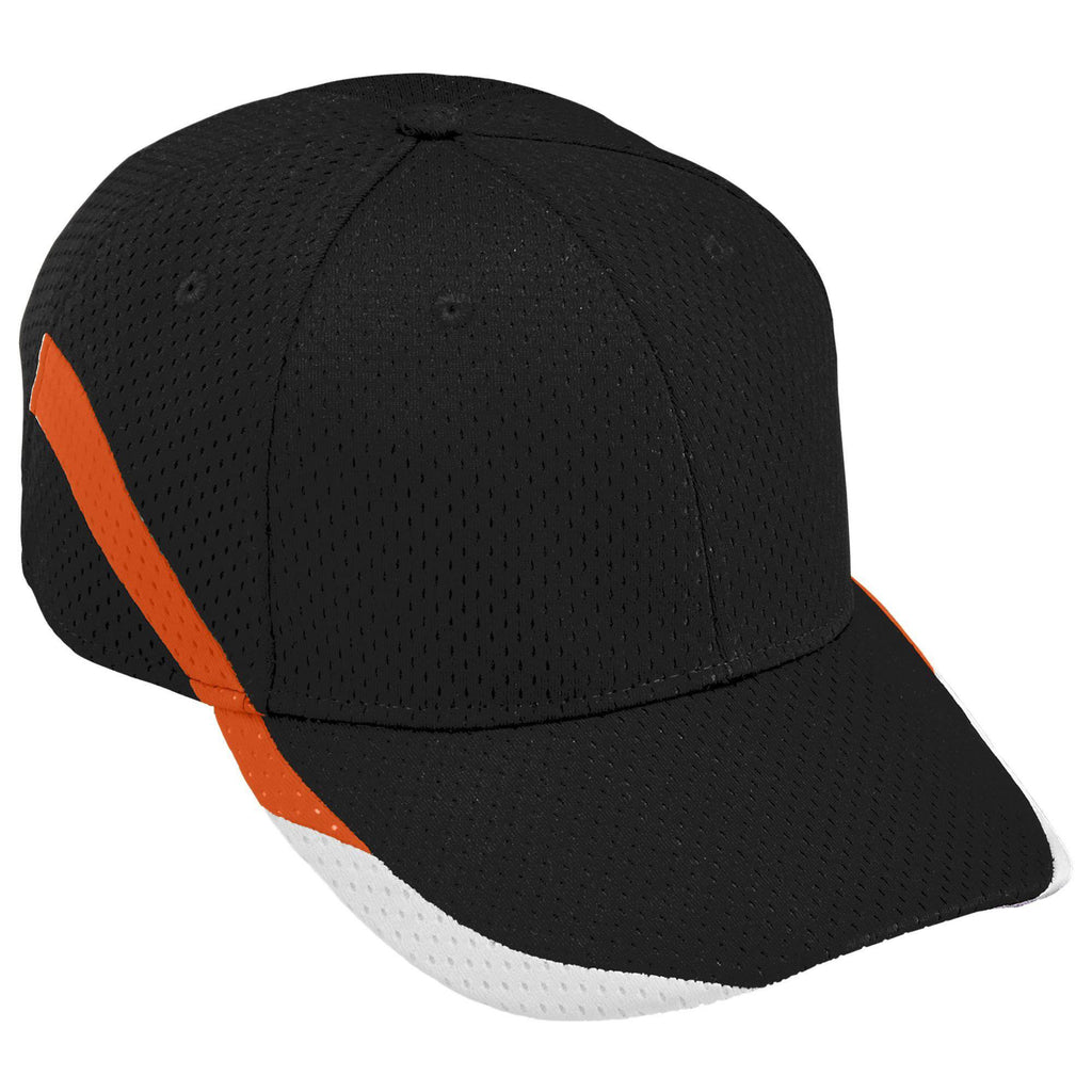 Augusta 6282 Slider Cap - Black Orange White - HIT A Double