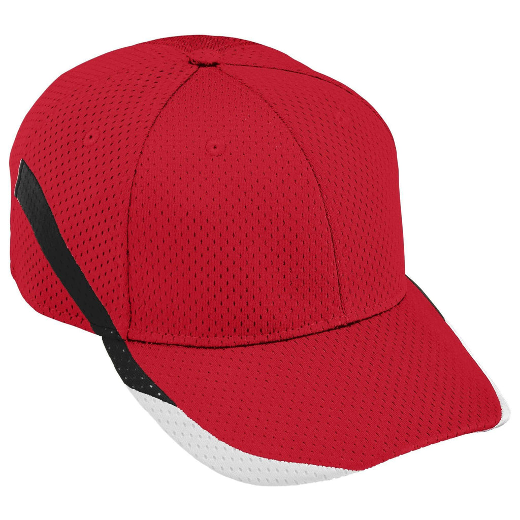 Augusta 6282 Slider Cap - Red Black White - HIT A Double