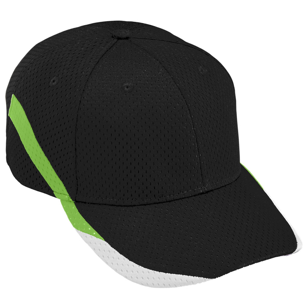 Augusta 6283 Slider Cap - Youth - Black Lime White - HIT A Double