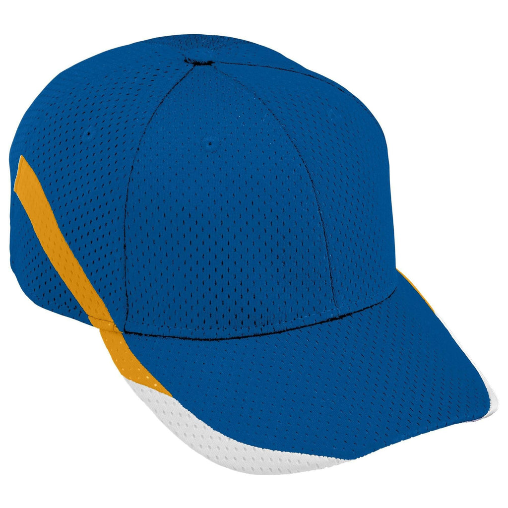 Augusta 6283 Slider Cap - Youth - Royal Gold White - HIT A Double