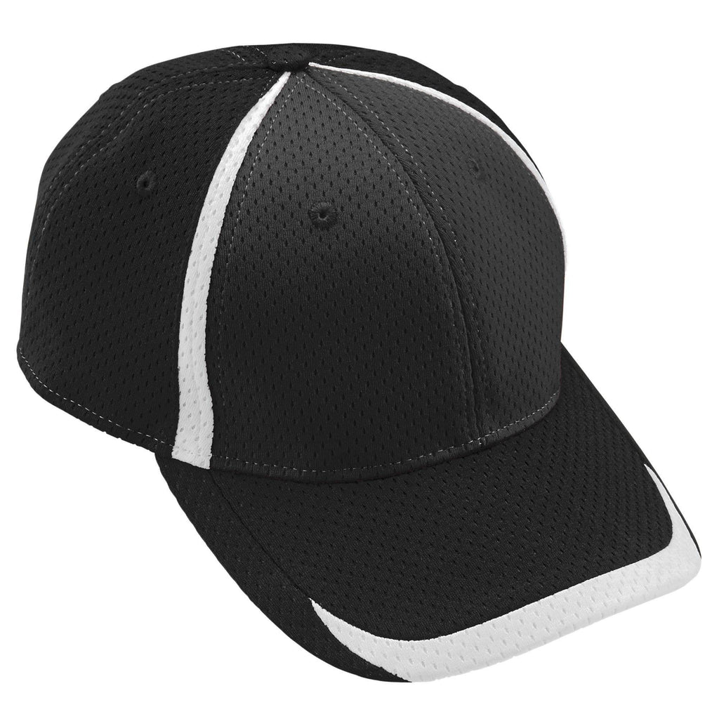 Augusta 6291 Change Up Cap - Youth - Black White - HIT A Double