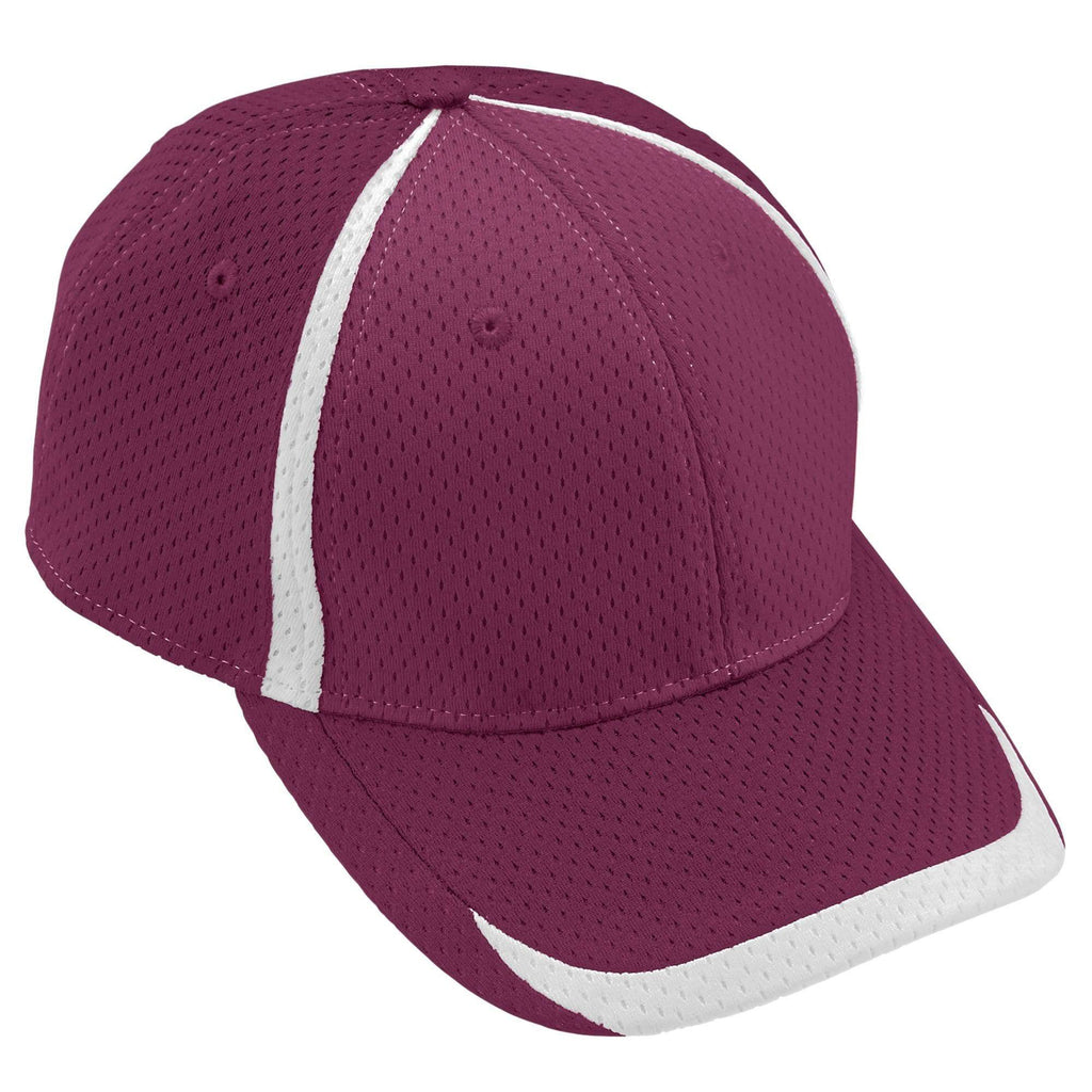 Augusta 6291 Change Up Cap - Youth - Maroon White - HIT A Double
