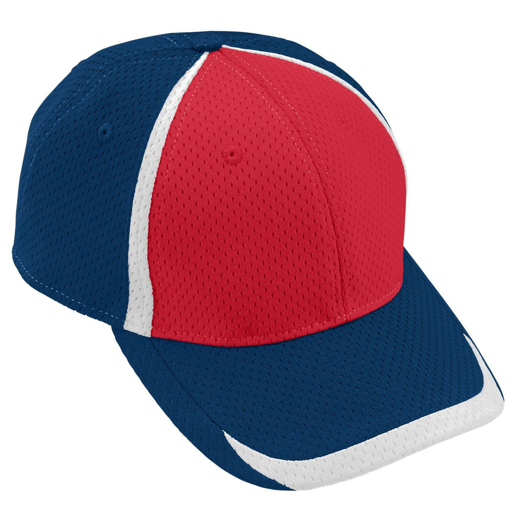 Augusta 6291 Change Up Cap - Youth - Navy Red White - HIT A Double