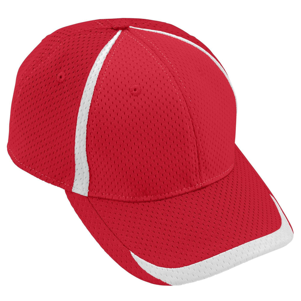 Augusta 6291 Change Up Cap - Youth - Red White - HIT A Double