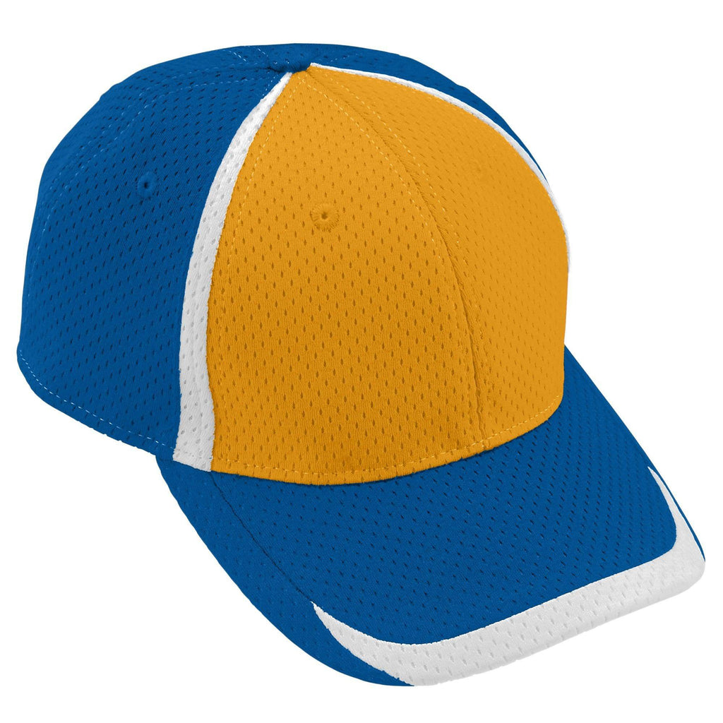 Augusta 6291 Change Up Cap - Youth - Royal Gold White - HIT A Double