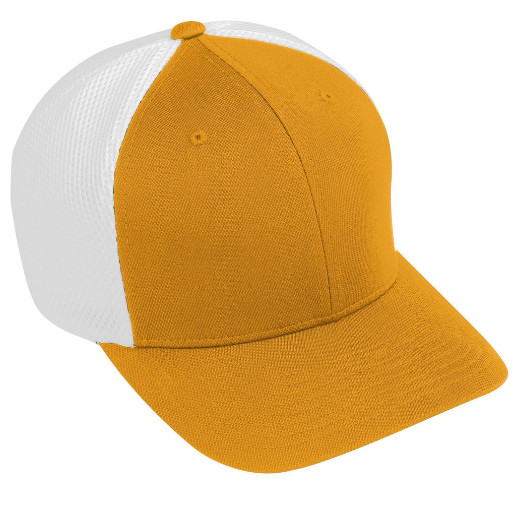 Augusta 6300 Flexfit Vapor Cap - Gold White - HIT A Double