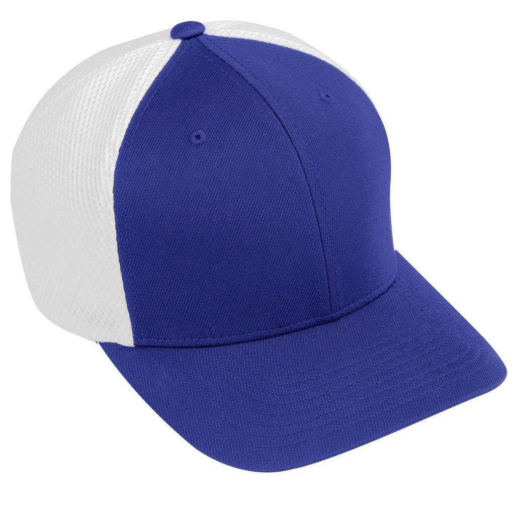 Augusta 6301 Flexfit Vapor Cap - Youth - Purple White - HIT A Double