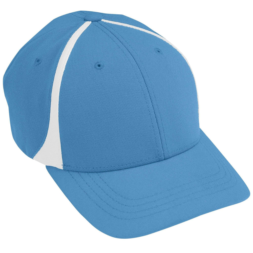 Augusta 6310 Flexfit Zone Cap - Columbia Blue White - HIT A Double