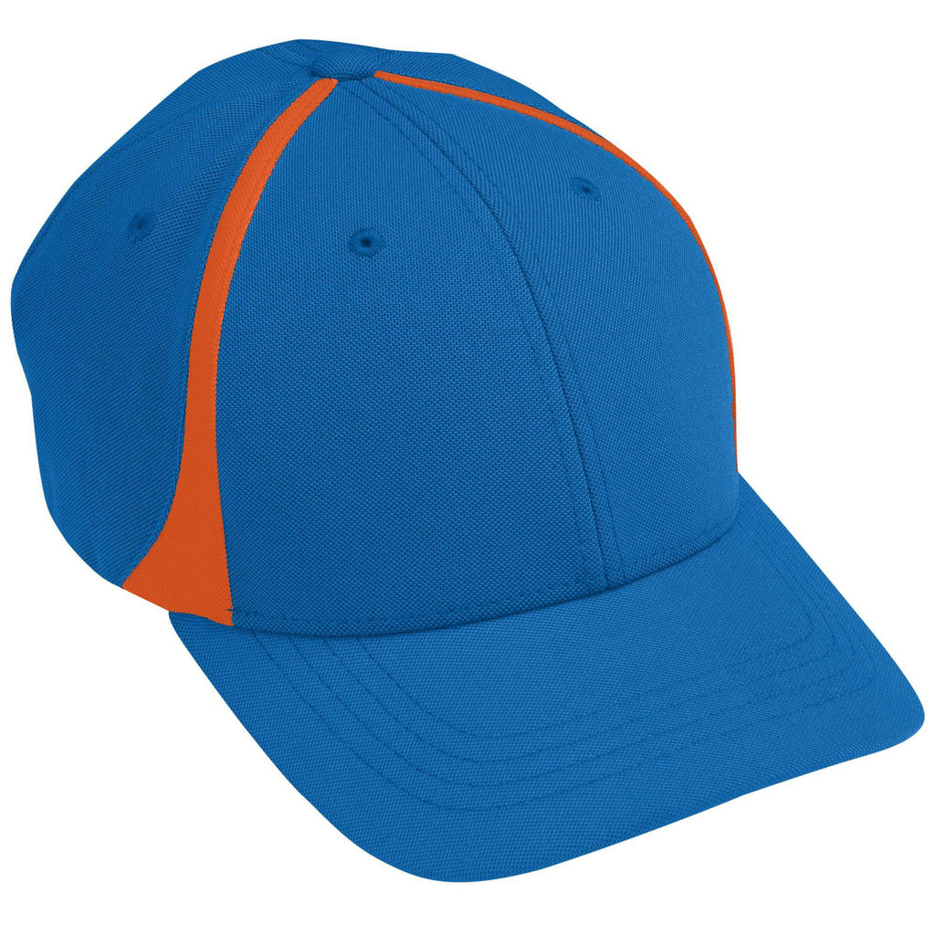 Augusta 6310 Flexfit Zone Cap - Royal Orange - HIT A Double