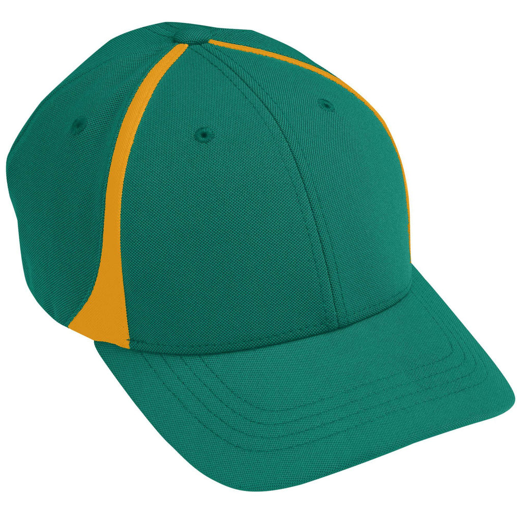 Augusta 6311 Flexfit Zone Cap - Youth - Dark Green Gold - HIT A Double