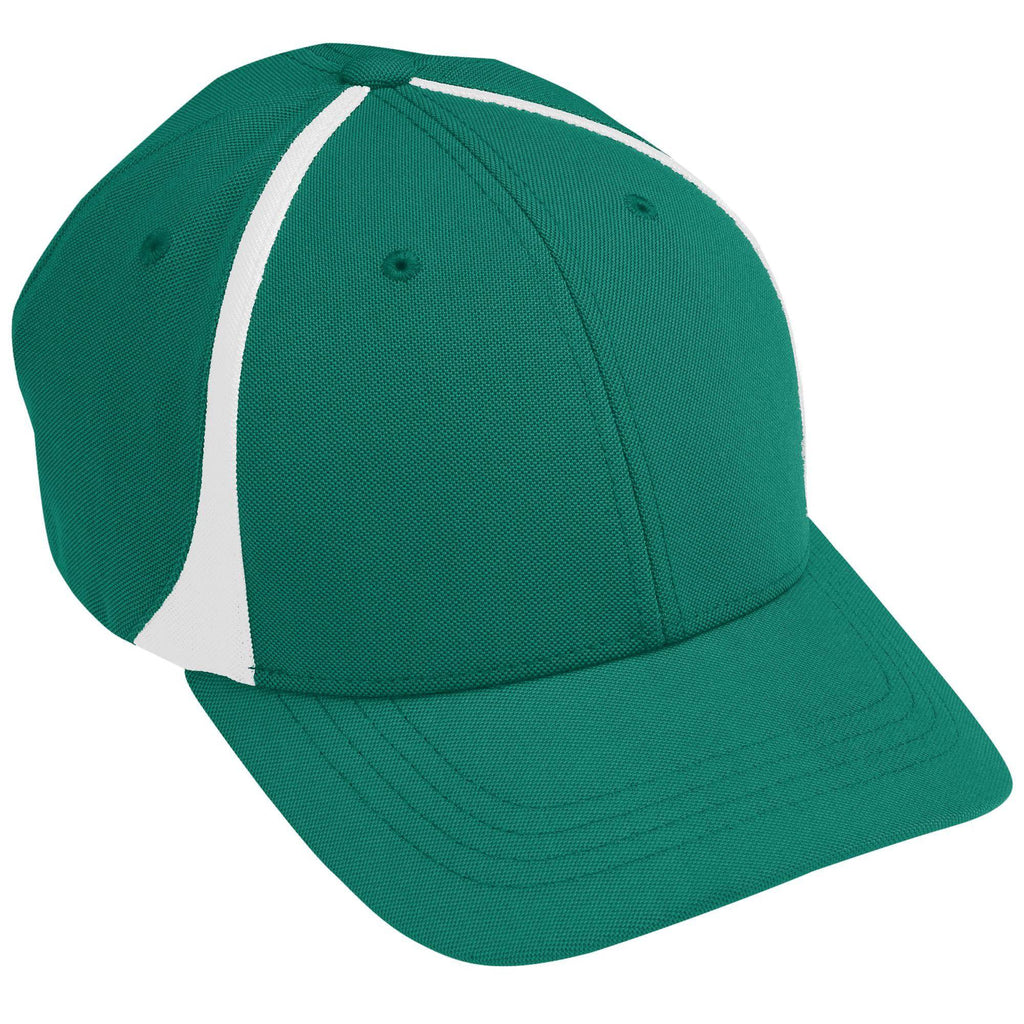 Augusta 6311 Flexfit Zone Cap - Youth - Dark Green White - HIT A Double