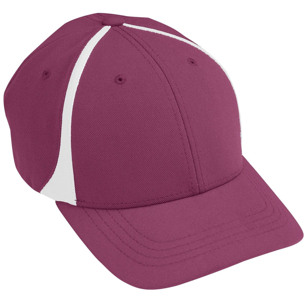 Augusta 6311 Flexfit Zone Cap - Youth - Maroon White - HIT A Double