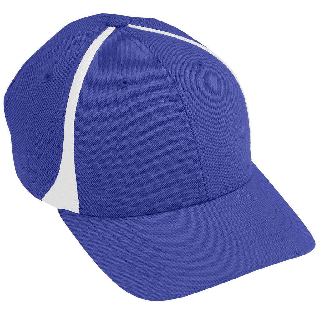 Augusta 6311 Flexfit Zone Cap - Youth - Purple White - HIT A Double