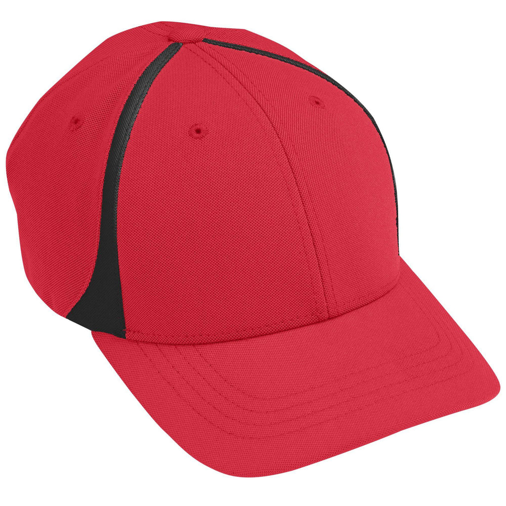 Augusta 6311 Flexfit Zone Cap - Youth - Red Black - HIT A Double