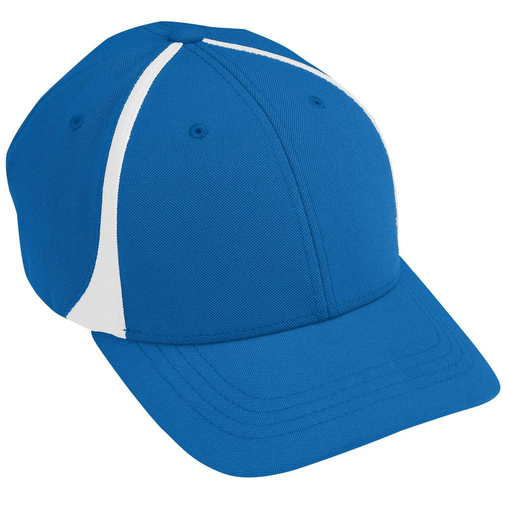 Augusta 6311 Flexfit Zone Cap - Youth - Royal White - HIT A Double