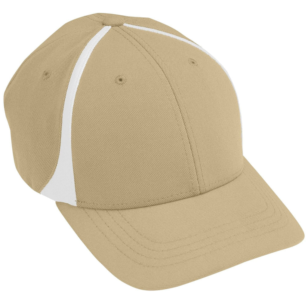 Augusta 6311 Flexfit Zone Cap - Youth - Vegas Gold White - HIT A Double
