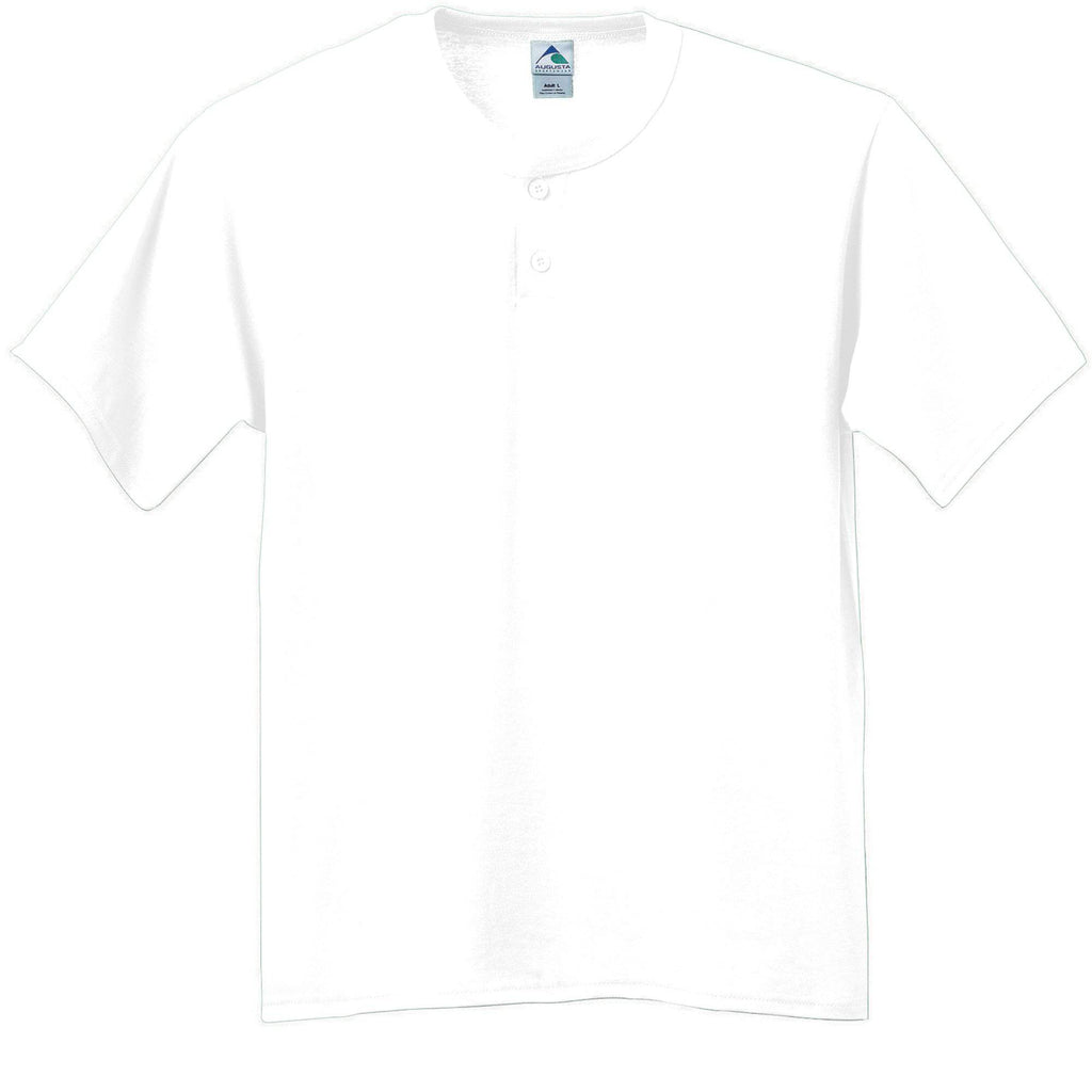 Augusta 643 Six-Ounce Two-Button Baseball Jersey - White - HIT A Double