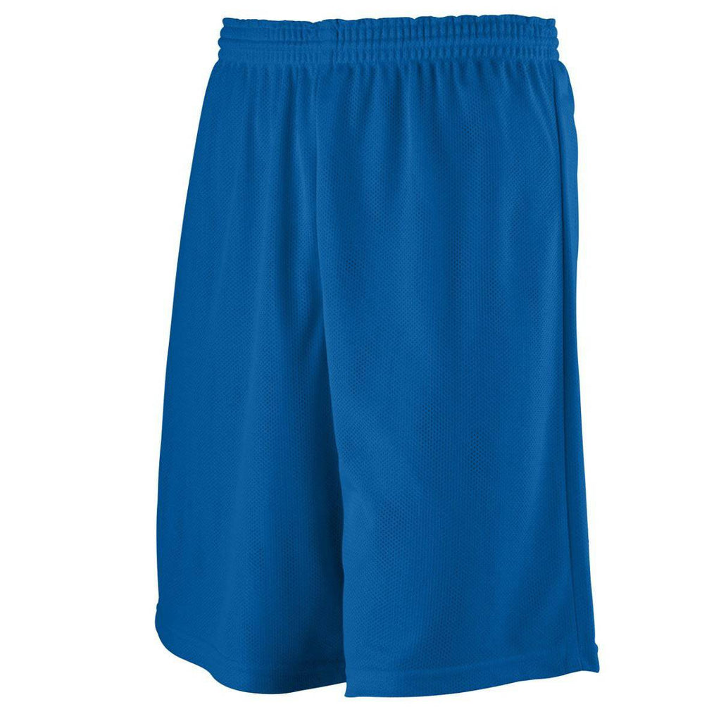 Augusta 739 Youth Longer Length Mini Mesh League Short - Royal - HIT A Double