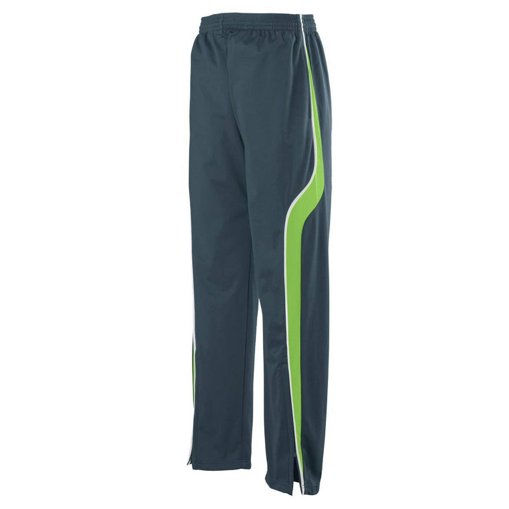 Augusta 7714 Rival Pant - Dark Gray Lime White - HIT A Double