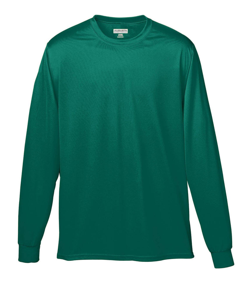Augusta 788 Wicking Long Sleeve T-Shirt - Dark Green - HIT A Double
