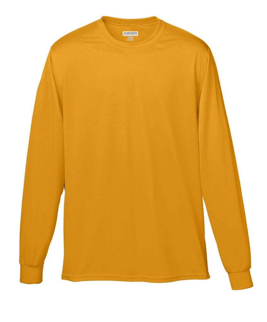 Augusta 788 Wicking Long Sleeve T-Shirt - Gold - HIT A Double
