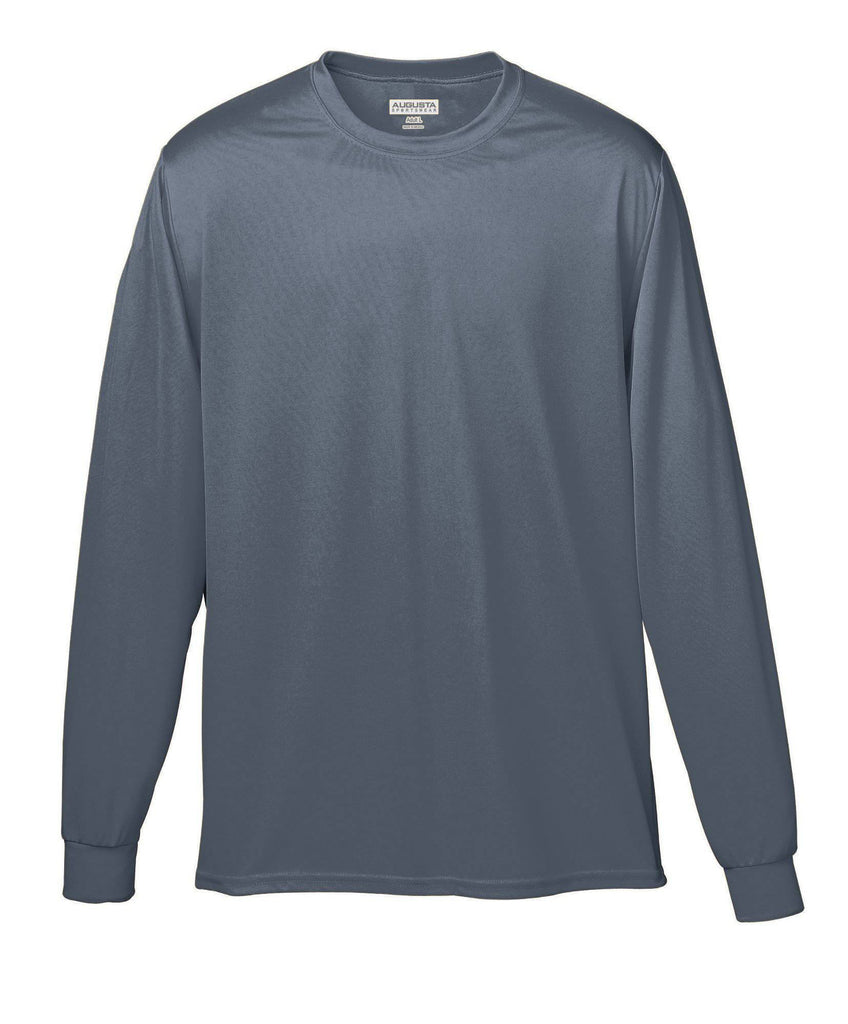 Augusta 788 Wicking Long Sleeve T-Shirt - Graphite - HIT A Double