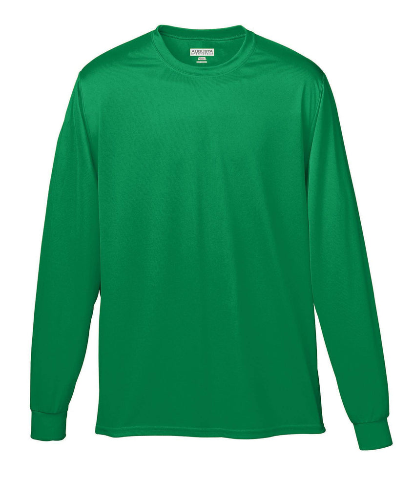 Augusta 788 Wicking Long Sleeve T-Shirt - Kelly - HIT A Double