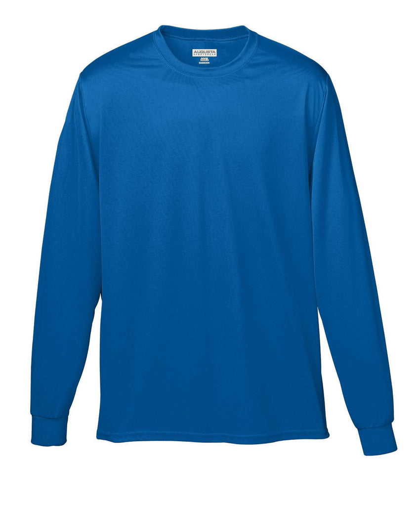 Augusta 788 Wicking Long Sleeve T-Shirt - Royal - HIT A Double