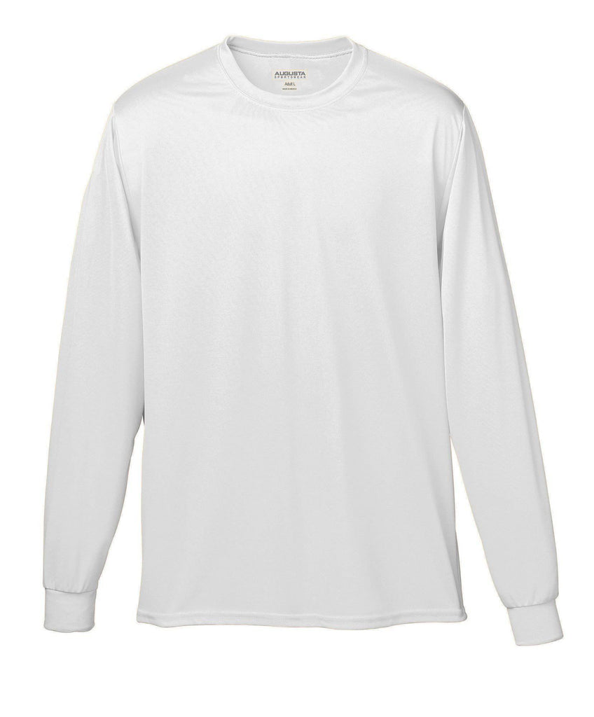 Augusta 788 Wicking Long Sleeve T-Shirt - White - HIT A Double