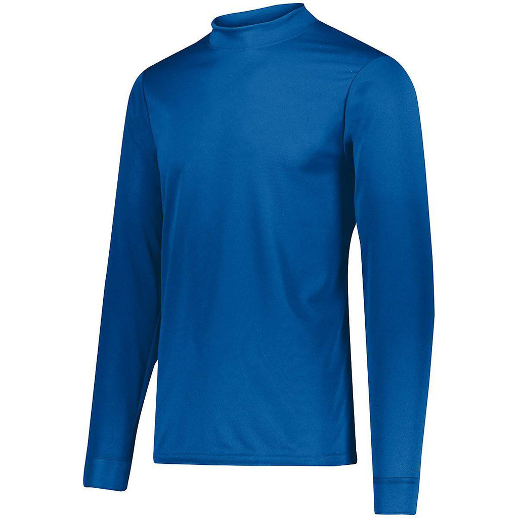 Augusta 799 Wicking Mock Turtleneck - Youth - Royal - HIT A Double