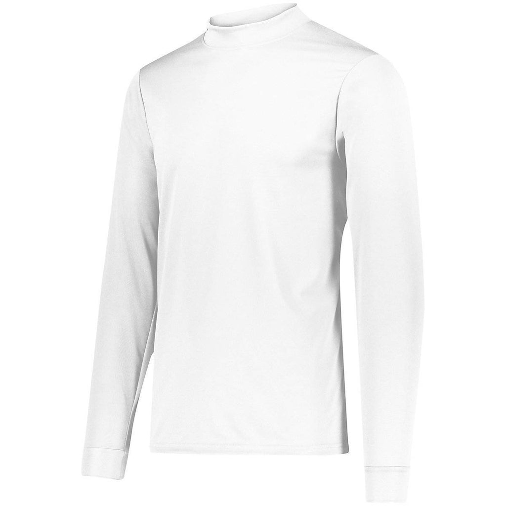 Augusta 799 Wicking Mock Turtleneck - Youth - White - HIT A Double