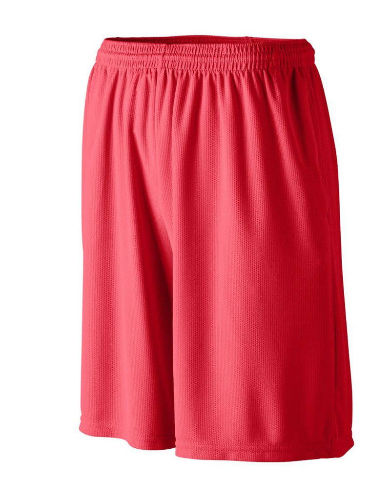 Augusta 803 Longer Length Wicking Short W/ Pockets - Red - HIT A Double